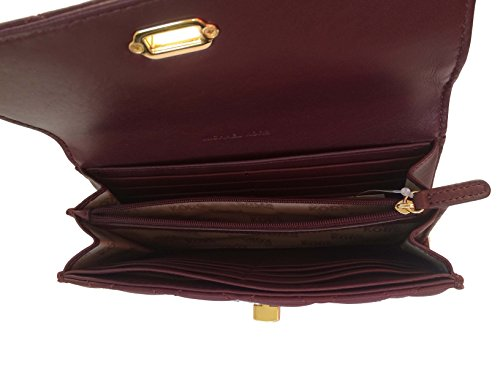 Michael Kors Astrid Carryall Quilted Leather Wallet Clutch (Merlot)