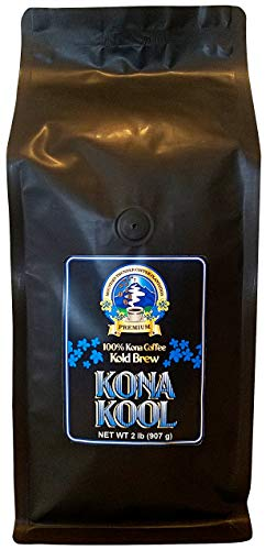 Mountain Thunder Coffee Plantation Award-Winning, Premium 100% Kona Kool Kold Brew Coffee - Cold Brew, Coarse Ground (2 pounds)
