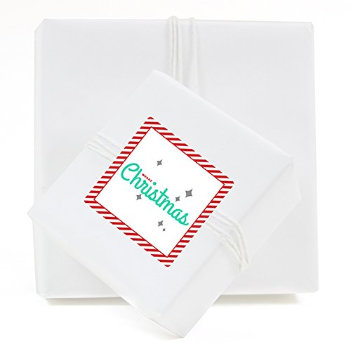 Andaz Press Merry Little Christmas Collection, 2-inch Square Labels, 40-Pack