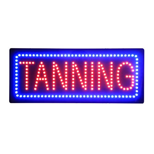 (LED Tanning Spa Salon Open Light Sign Super Bright Advertising Display Board for Beauty Salon Business Shop Store Window Bedroom Decor 32 x 13 inches)