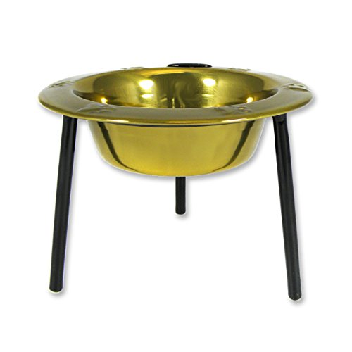 Platinum Pets 1-Cup Single Saucer Feeder with Wide Rimmed Bowl, ()