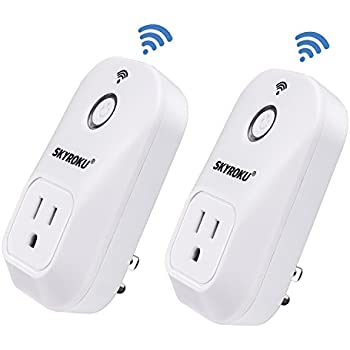 Smart Plug, SKYROKU 2 Pack SM-PW701U Wi-Fi Plug No Hub Required, Works with Alexa Echo Control Your Devices from Anywhere