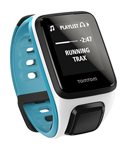 TomTom 1REM.002.08 Spark Music GPS Fitness Watch (Small) White/Scuba Blue