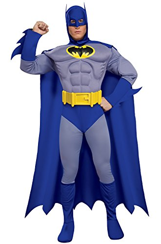 Rubie's Dc Heroes and Villains Collection Deluxe Muscle Chest Batman, Multicolored, Small Costume