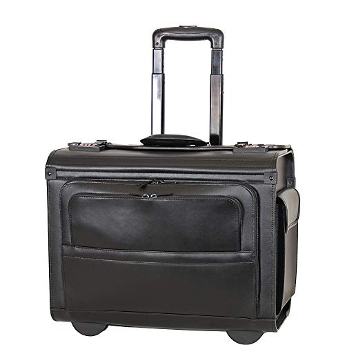 Netpack Leather Rolling Computer & Catalog Case (Black) ()