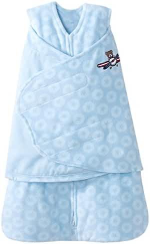 HALO SleepSack Micro Fleece Swaddle, Blue Aviator, Newborn