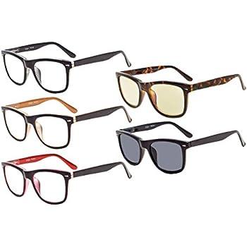 7f3162d95fc Eyekepper 5-pack Readers Square Large Lenses Spring-Hinges Reading Glasses  Include Computer Glasses