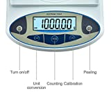 KOOKYOU Lab Analytical Balance Scale 0.01/1000 Gram Electronic Balance Laboratory Scale Gram Digital Weight Scale Balance Jewelry Gold Scale Kitchen Weighing Scale Balance