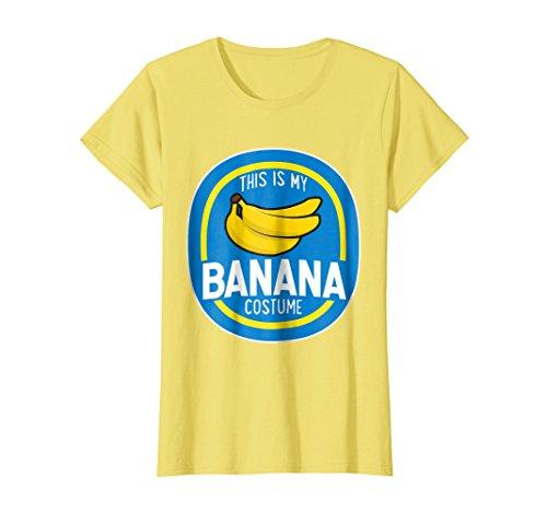 Womens This Is My Banana Costume Funny Halloween Shirt Adults Kids Medium (Teen Banana Costume)