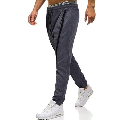 Travail Long Décontracté Patchwork Hommes Gris Foncé Poche Sport Pantalon Salopette De pTqHUPwnx
