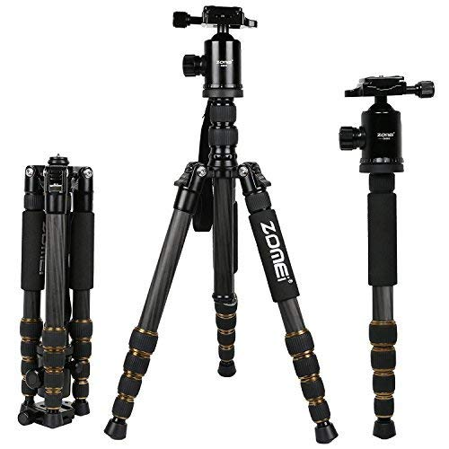 ZOMEI Z699C Carbon Fiber Portable Tripod with Ball Head Comp