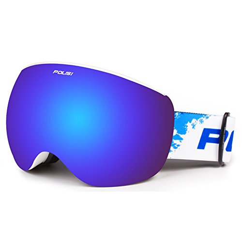 SE7VEN Magnetic Lunettes De Ski,Lunettes Pour Les Sports D'hiver Ultra Wide-ange Lentille Sphérique Bonne Vision Claire 100 % Protection Uv Deux Types De Lentilles De Remplacement A