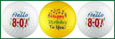 Hello! Eighty Birthday Golf Ball Gift Set