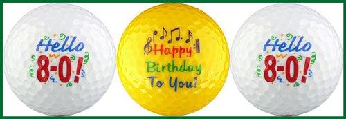 Hello! Eighty Birthday Golf Ball Gift Set by EnjoyLife Inc (Image #1)