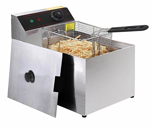 MasterPanel - 2500W Deep Fryer Electric Commercial Tabletop Restaurant Frying w/ Basket Scoop #TP3374 by MasterPanel