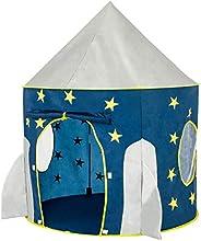 FoxPrint Rocket Ship Tent - Space Themed Pretend Play Tent - Space Play House - Spaceship Tent for Kids - Fold