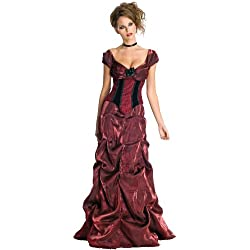 Secret Wishes Dark Rose Costume Dress, Burgundy/Black, X-Small