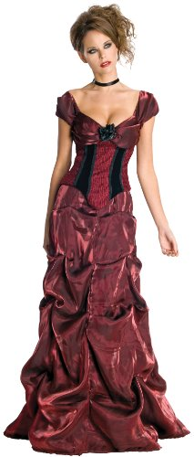 Masquerade Costumes - Secret Wishes Dark Rose Costume Dress, Burgundy/Black, Large
