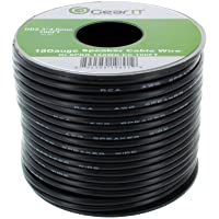18AWG Speaker Wire, GearIT Pro Series 18 Gauge Speaker Wire Cable (200 Feet / 60.96 Meters) Great Use for Home Theater Speakers and Car Speakers, Black