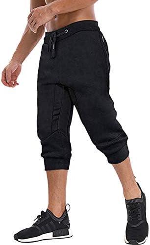 アウトドア スポーツウェア ショーツパンツ メンズ ジャージパンツ 7分丈 ランニング 短パン 通気性 フィットネス ハーフパンツ 無地 切り替え