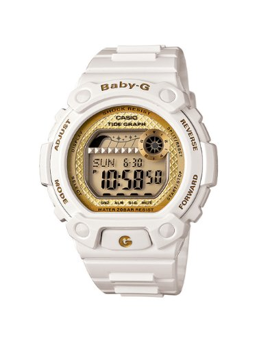 Casio Women's BLX100-7B Baby-G Shock Resistant Glide White Multi-Function Watch