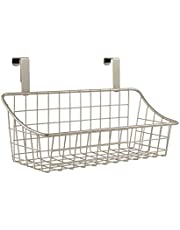 Spectrum 56177 Over The Cabinet Grid Basket, Small, Satin Nickel