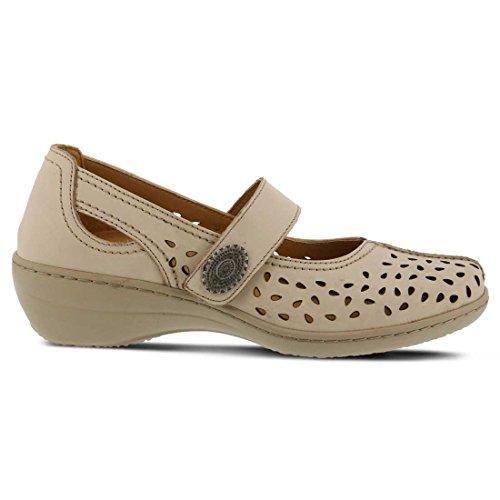 Fjädersteg Kvinnor Lorona Clog Beige Läder