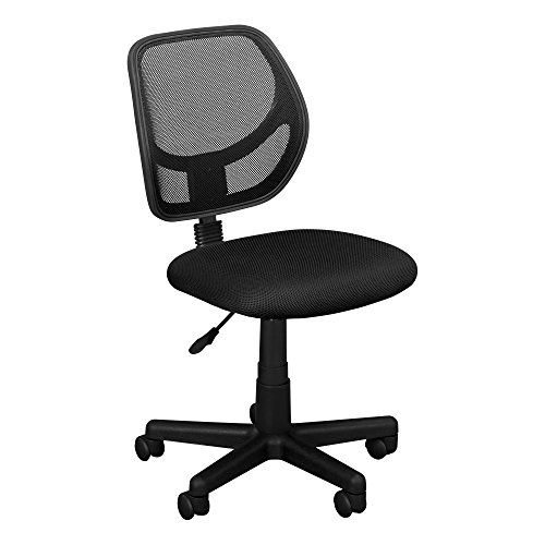 Fat Catalog Colorful Low-Back Mesh Computer Task Chair Black