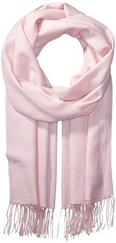 La Fiorentina Women's Soft Twill Cashmere Scarf, Light Pink, One Size by La Fiorentina