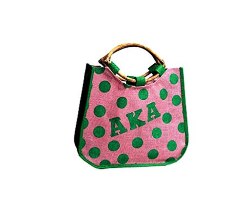 pink and green aka tote