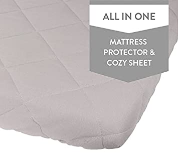 Amazon.com : Waterproof Cotton Quilted Pack n Play Sheet | Mini ... : quilted crib sheet - Adamdwight.com