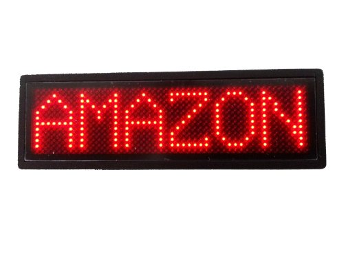 Programmable Scrolling MSD LED Name Badge (12x48 pixels) Red - Led Scroll