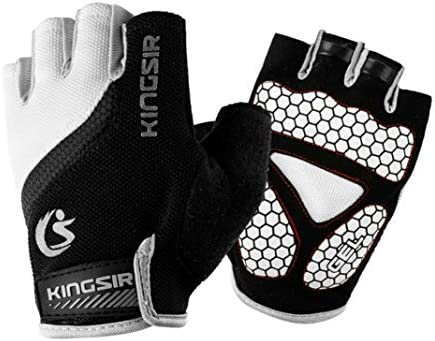 Womens Half Finger Breathable Anti Skid Cycling Outdoor Fitness Climbing Gloves