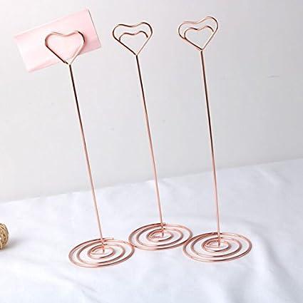 Segnaposto Matrimonio Beneficenza.Oro Rosa Cuore Segnaposto Supporto Da Tavolo Nome Foto Memo