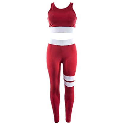Morbuy Yoga Conjunto de Mujer, Mujeres Chaleco Deportivo Top and Leggings Gimnasio Ropa Chándal Yoga Fitness Deportes Estiramiento