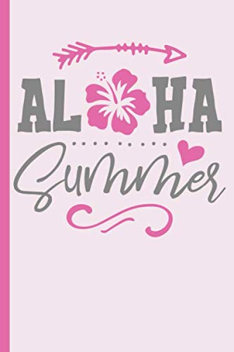 (Aloha Summer with Hibiscus Flower : College Ruled Notebook)