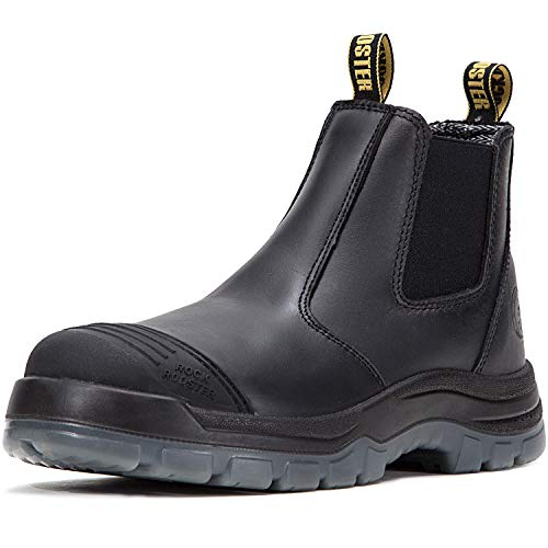 Wide Width Tall Boot - ROCKROOSTER Men's Work Boots Waterproof, Steel Toe, Antistatic, Water Resistant Leather Shoes, Width EEE-Wide (AK227, US 7)