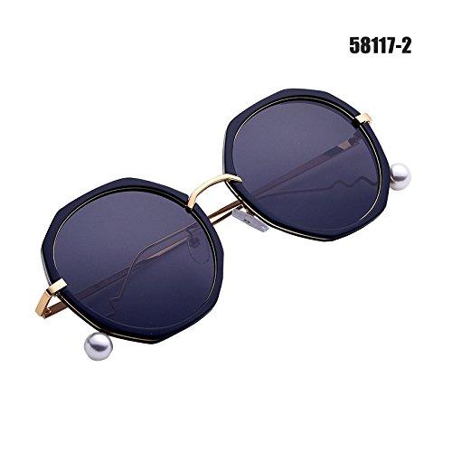 Gafas De Box De Frame Black Espejo Las De Manejar A De Blue Xue B Sol Gafas Cristal zhenghao wYIIC