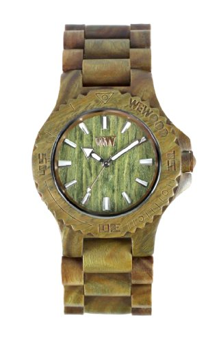 Wewood Men's Date Army Wooden Watch