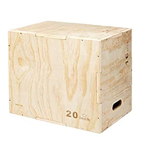 "Well-Being-Matters 41lcGcKwUkL._SS300_ Amazon Basics Wood Plyometric Training Exercise Box, 16"" x 20"" x 24"""