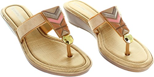Grendha  Treasure Wedge, Damen Zehentrenner beige beige