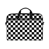 CHLBOJ Checkered Flag 15 inch Laptop Shoulder Messenger Bag Case Sleeve Briefcase