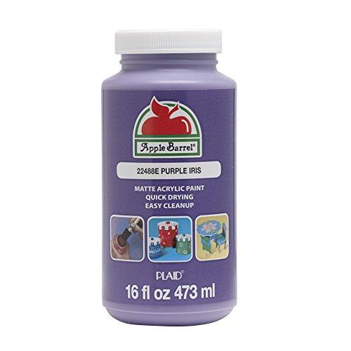 Apple Barrel 22488E Acrylic Paint, 16 oz, Purple Iris Acrylic Iris