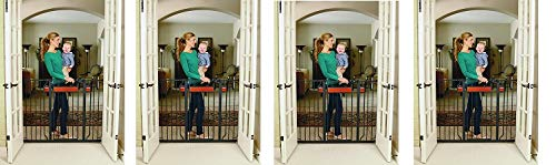 Regalo Home Accents Extra Tall and Wide Baby Gate, Bonus Kit, Includes Décor Hardwood, 4-Inch Extension Kit, 4-Inch Extension Kit, 4 Pack Pressure Mount Kit and 4 Pack Wall Cups and Mounting Kit (4) by Regalo