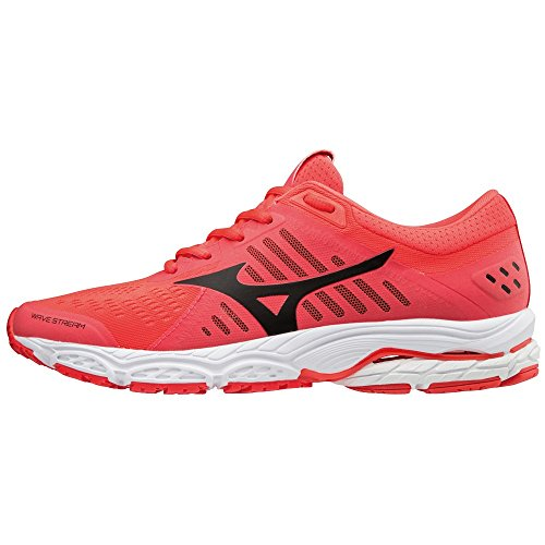 Wave black 001 Mizuno fierycoral Femme Stream Sneakers Basses whi Multicolore Oaw0wqAFx
