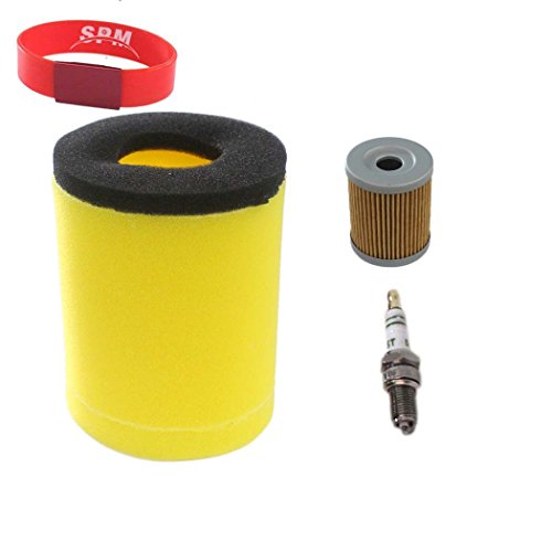 Quad King Quadrunner (SPM Air Filter Oil Filter Spark Plug for Suzuki Quadrunner 250 King Quad 300 4x4 LT-F250 LT-F4WD LT-F250F LT-F4WDX LT-F300F)