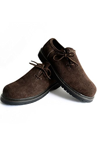 Original Bavarian Haferl Shoes darkbrown 44 by Edelnice Trachtenmoden