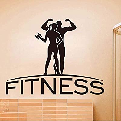 Wall Stickers DIY Wall Decals Fitness Wall Art Sticker Sports Gym Removable Vinyl Wall Decals Self Adhesive Wallpaper Home Decor for Living Room Decorations 57 44Cm: Baby