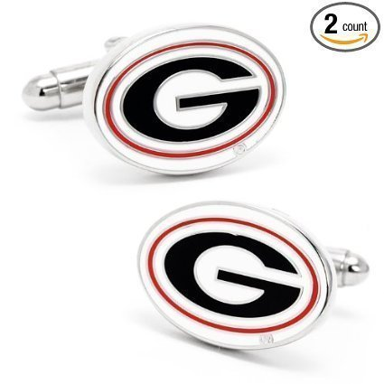 University of Georgia Bulldogs NCAA Logo'd Executive Cufflinks w/ Jewelry Box... by Cufflinks Inc by Cufflinks