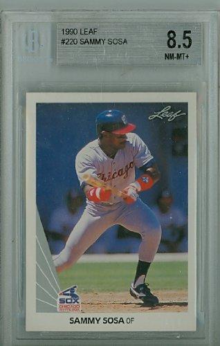 (1990 Leaf Sammy Sosa White Sox Rookie Gem Mint Beckett 9.5)